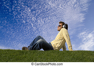 enjoying good music - Relax in nature enjoying good music...