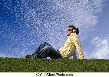 enjoying good music - Relax in nature enjoying good music...