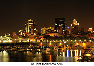 Old Port of Montreal by night