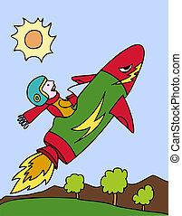Rocket Ship cartoon