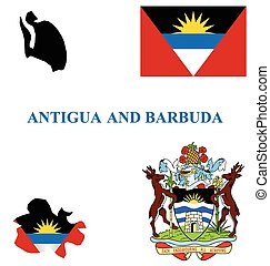 Antigua and Barbuda Flag - Flag and national coat of arms of...