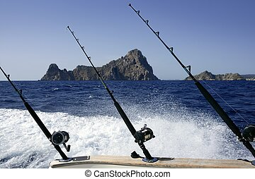 Fishing boat on Mediterranean Sea Saltwater big game with...
