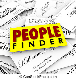 People Finder Business Cards Employment Recuiter Hiring Job...