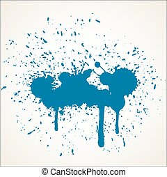 Grunge Paint Drops Vector Backdrop - Abstract Grunge Dirty...