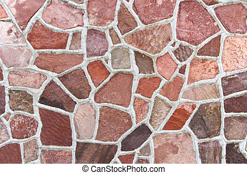 Stone wall texture - Old church building wall made from big...