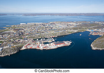 Nuuk city, Greenland - Aerial view of Nuuk city, Greenland...