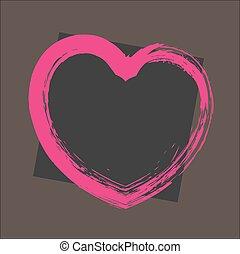 Retro Grunge Heart Banner