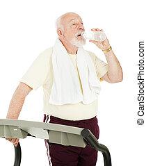 ataque, 3º edad, bebidas, agua