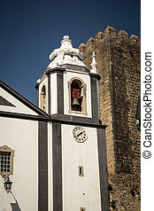Bell Tower - Bell tower of a Church in Obidos