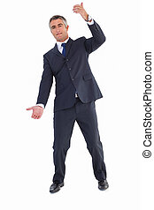 Businessman well dressed doing gesture