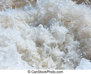 Sea surf wave - Sea surf great wave close-up nature...