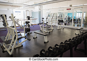Equipments in the gym - View of equipments in the gym