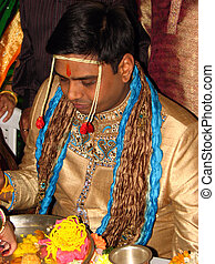 Traditional Lunch Ceremony - A traditional Indian groom...