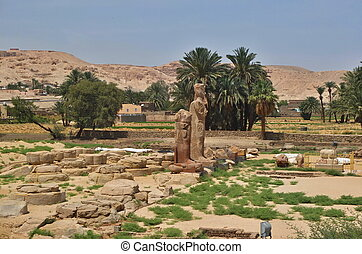 Egyptian Statue in Luxor Egypt