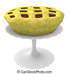 Pie on stand - 3d computer generated