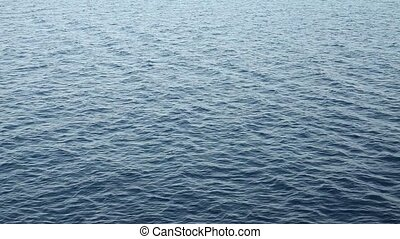 Sea surface with ripples and waves