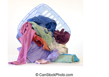 Spilled Colorful Laundry - Colorful dirty laundry spills...