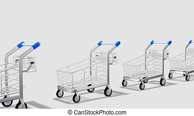Trolleys in motion Concept of consumer society