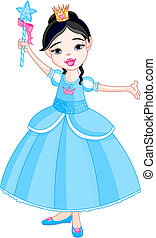 Little princess - Beautiful little princess in blue dress...
