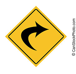 Directional traffic sign