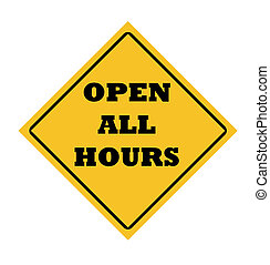 Open all hours sign