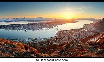 Tromso at sunset, Norway
