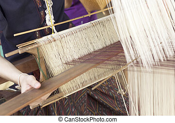 making handmade weaving thread