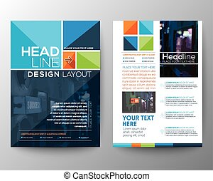 Brochure Flyer design Layout vector template - Vector...