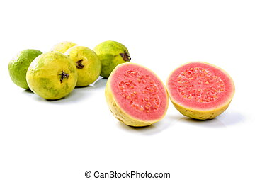 Guava Fruit on white background