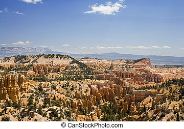 Bryce Canyon National Park - The Hoodoo rock formations as...