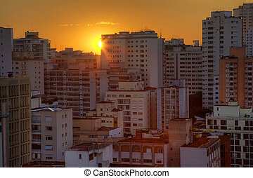 Sao Paulo - Twilight in the city of Sao Paulo Brazil