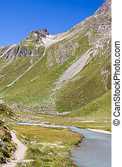 Riffl River in Austria - The Riffl River leading into Lake...