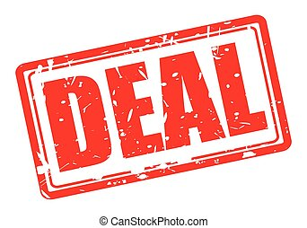 Deal red stamp text