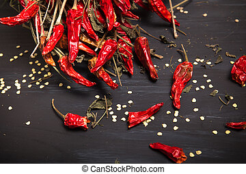 Chilis - Spicy red dried chilies