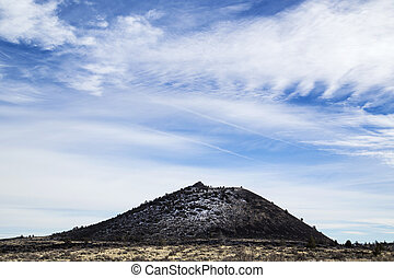 Cinder Cone, Lava Beds National Monument - A light snowfall...