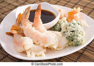 Tempura Shrimp - Lightly battered Japanese tempura shrimp,...