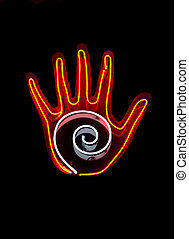 Neon sign for Palm Reading - Neon sign often found in Palm...