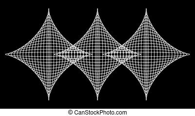 Concentric-27n - Loopable seamless cyclic animated sequence...