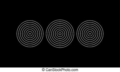 Concentric-23p - Loopable seamless cyclic animated sequence...