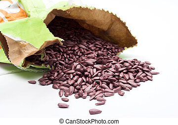 sunflower sowing seed - colored sunflower sowing seed close...
