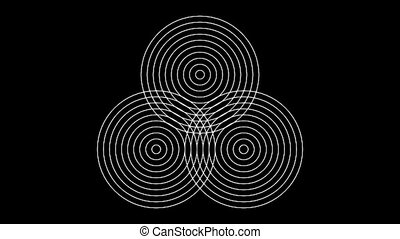 Concentric-25n - Loopable seamless cyclic animated sequence...