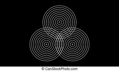 Concentric-25p - Loopable seamless cyclic animated sequence...
