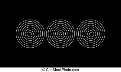 Concentric-21n - Loopable seamless cyclic animated sequence...