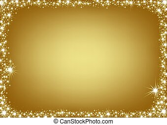 Golden Christmas Frame - christmas background illustration