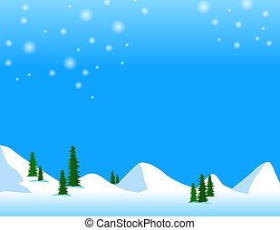 snow mountain - illustration drawing of snow mountain and...