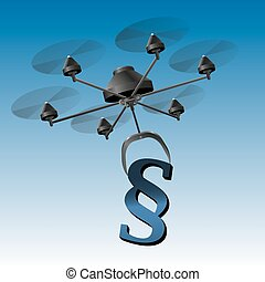 Drone Paragraph Sign - Drone or unmanned aerial vehicle UAV...
