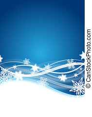 winter flyer - abstract blue winter flyer design with...