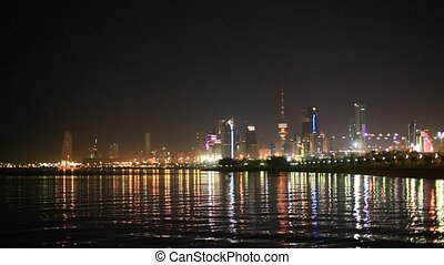 Kuwait City at night - Skyline of Kuwait City at night...