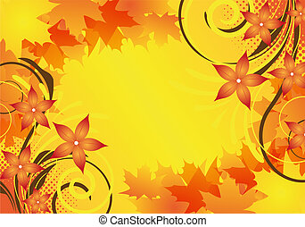 autumn design - autumn background design with leaves and...