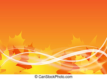 autumn background - abstract autumn background design with...
